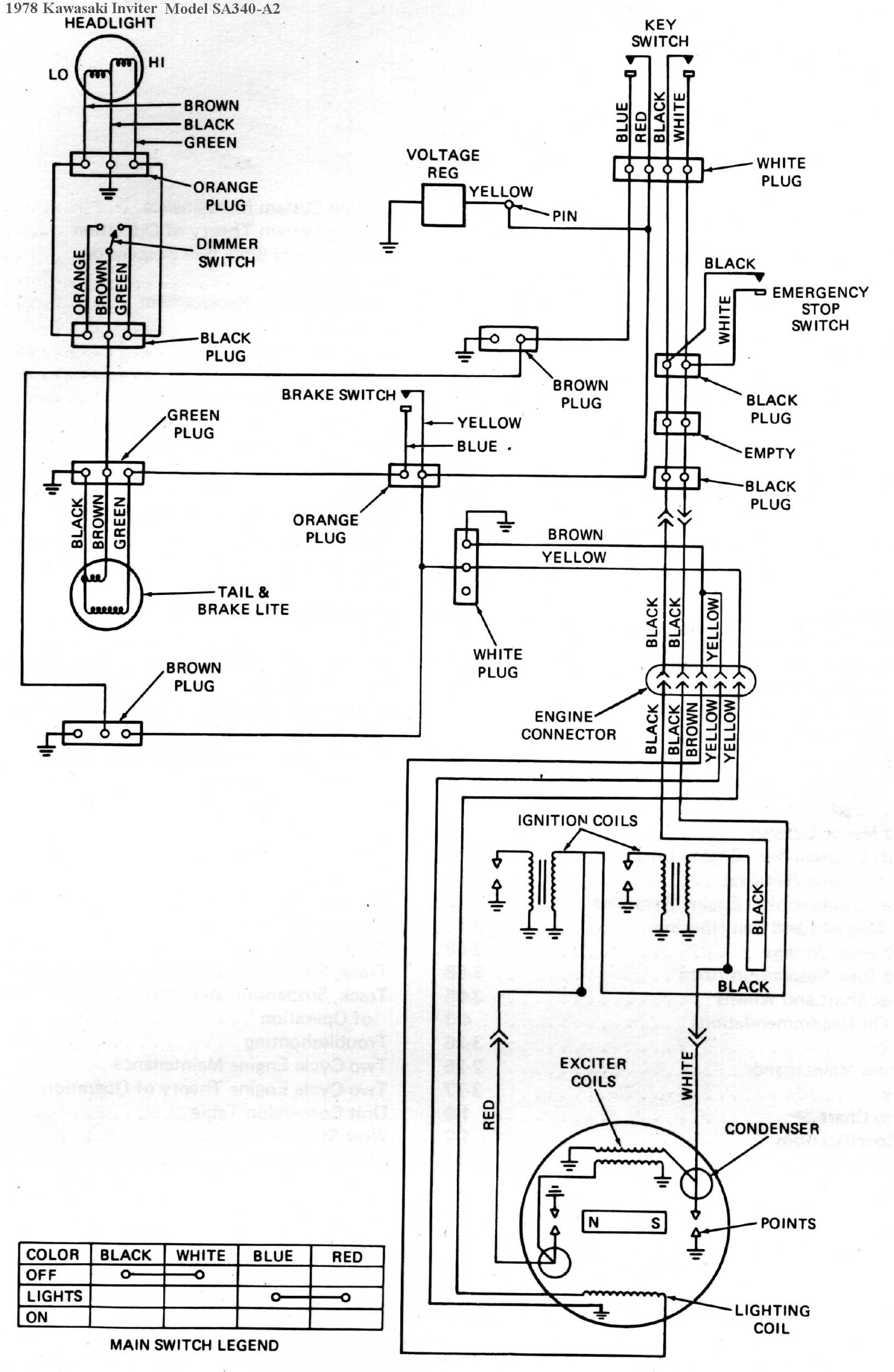 1978 Kawasaki Inviter  Intrigure Snowmobile Wiring Diagrams