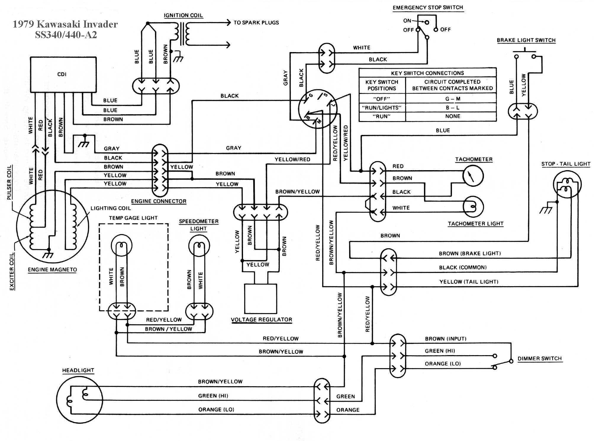 ss340a2 kawasaki invader snowmobile wiring diagrams 1980 kawasaki 440 ltd wiring diagram at bakdesigns.co